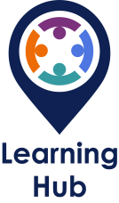 Learning Hub with text